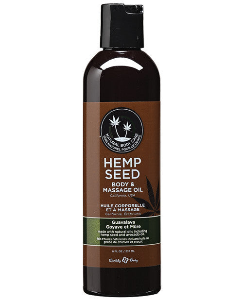 Earthly Body Hemp Seed Massage Oil 8 oz - Guavalava