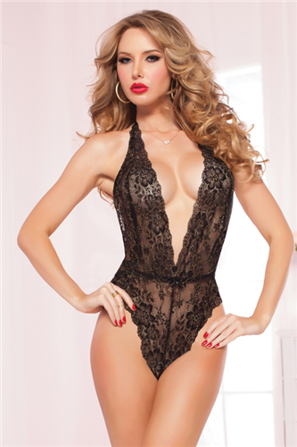 Floral Lace Teddy - One Size