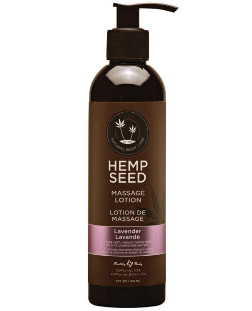 Earthly Body Hemp Seed Massage Lotion 8 oz - Lavender