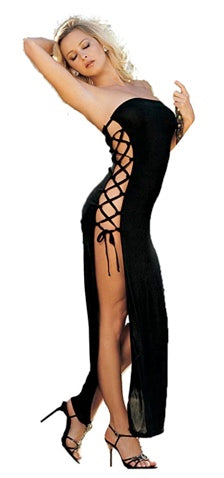 SLINKY DRESS-ONE SIZE-BLACK