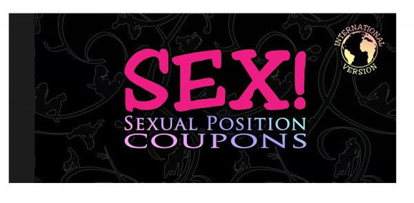 Sex! Sexual Position Coupons