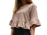 Jersey Ruffle Crop Top