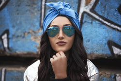Blue Knot Turban