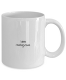 Mantra Mug - I am Courageous, Positive Affirmation Statement, Inspirational Gift Ideas for Girls Teens Women Boys Men, Self Reminder Empowerment Coffee Cup, 11 Oz