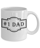 Novelty Coffee Mug - #1 Dad, 11 oz Cup