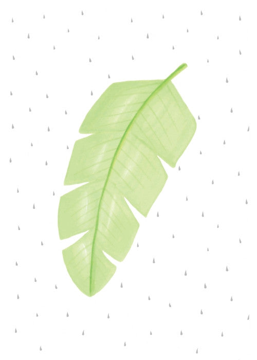 born-lucky-botanicals-banana-leaf-a3-print