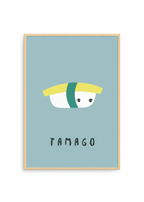 born-lucky-world-sushi-tamago-a3-print