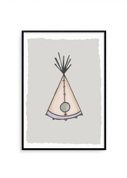 born-lucky-dwellings-stitched-wigwam-a3-print