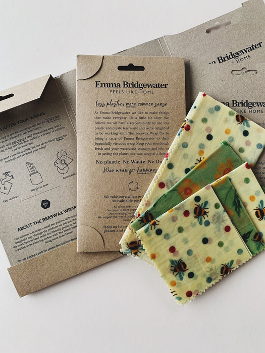 Beeswax Wrap Co. Pack of 5 Wax Wraps | Bees & Buttercups
