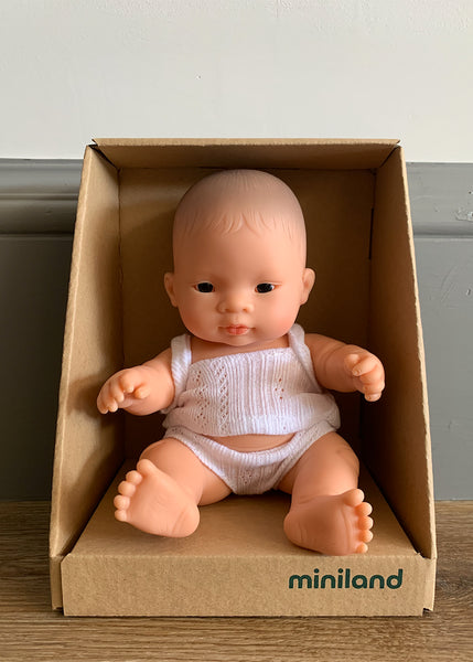Miniland Asian Mini Baby (Boy or Girl) 21cm