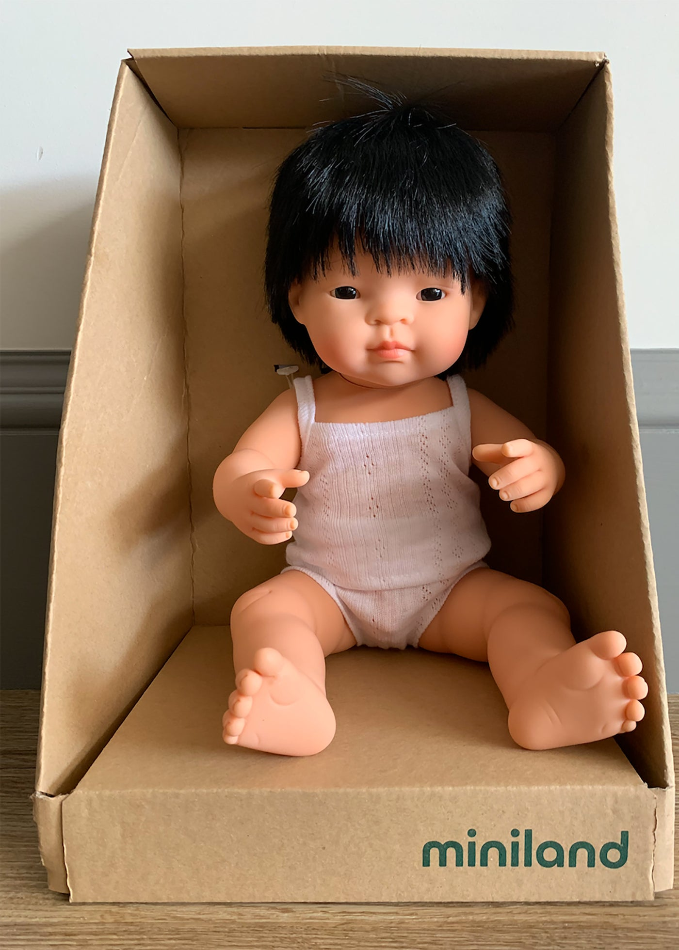 Miniland Asian Baby Boy Doll (38CM)