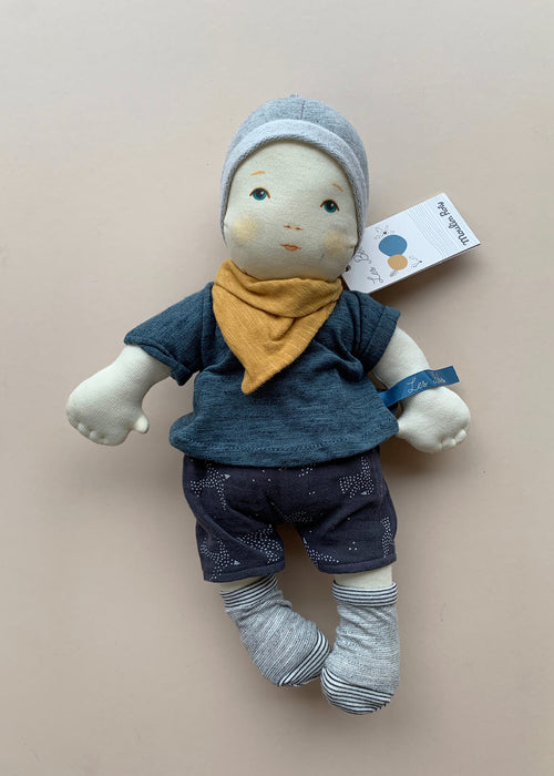 Moulin Roty Soft Toy Baby- Blue