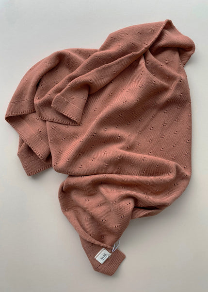 Hvid Bibi Blanket in Brick Merino Wool