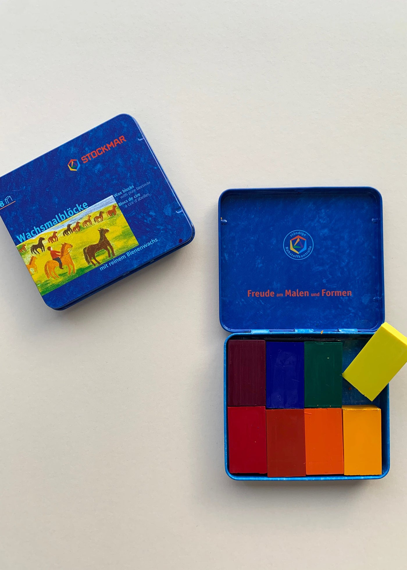 Stockmar Tin of 8 Block Beeswax Crayons