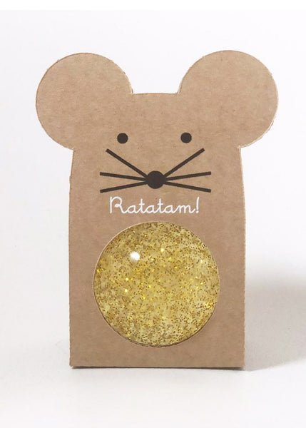 Ratatam Glitter Mouse Bouncy Ball | Gold
