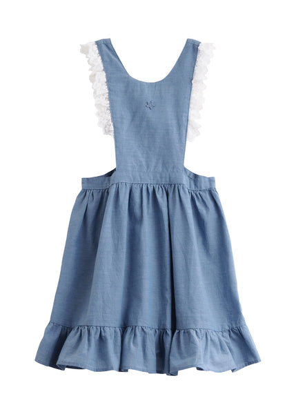 Tocoto Vintage Chambray Pinafore (Last One! 12-18M)