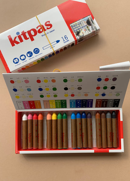 Kitpas Medium Art Crayons 16 Colours