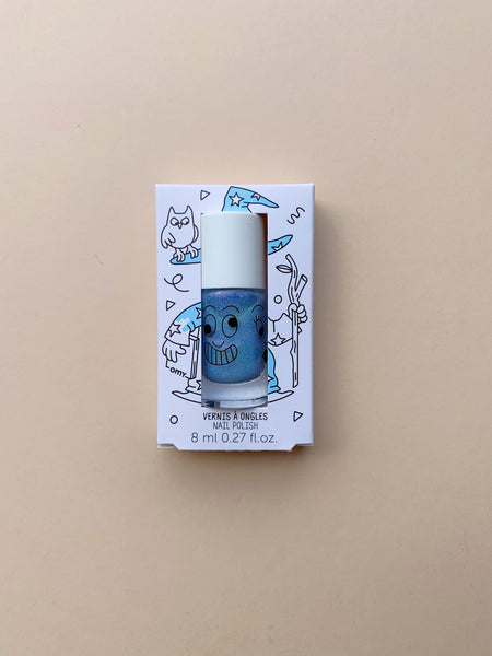 Nailmatic Washable Nail Polish | Merlin Pearly Blue
