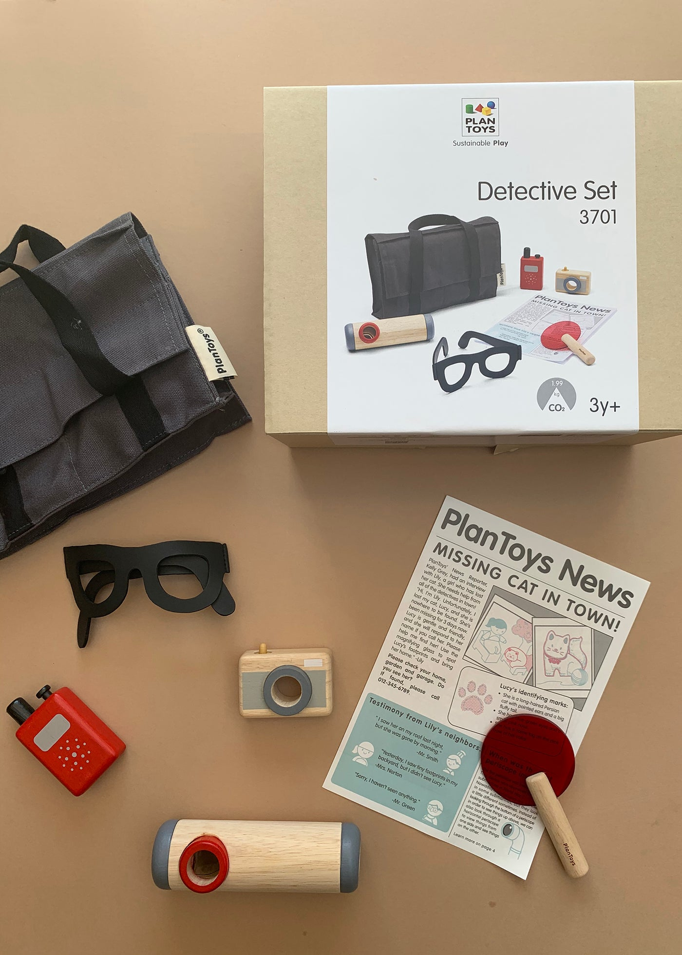 Plan Toys Wooden Detective Set