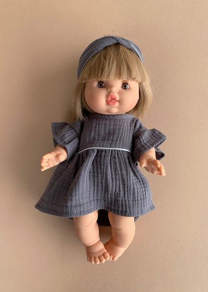 Minikane x Paola Reina 34cm Doll Dress and Headband