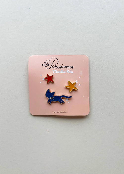 Moulin Roty Enamel Pin Set- Cat