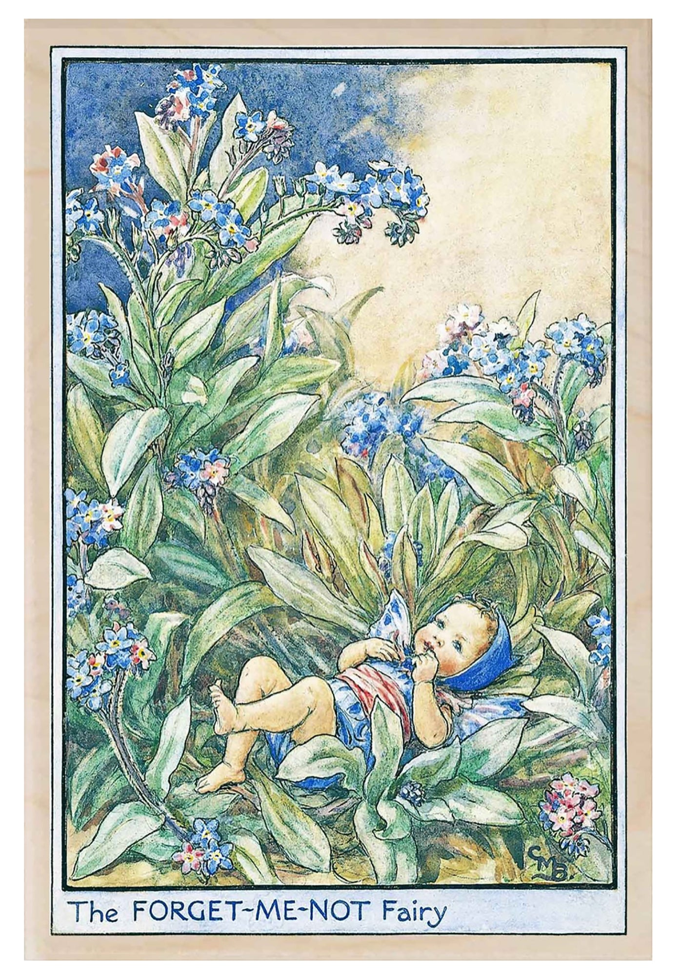 The Wooden Postcard Forget-Me-Not Fairy Card