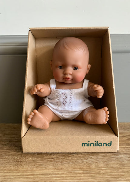 Miniland Hispanic Mini Baby (Boy or Girl) 21cm