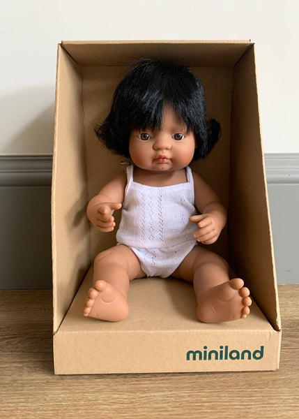Miniland Hispanic Baby Girl Doll (38CM)