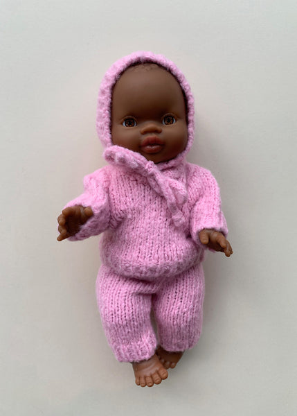 Minikane x Paola Reina Knitted 3 Piece Outfit for Doll