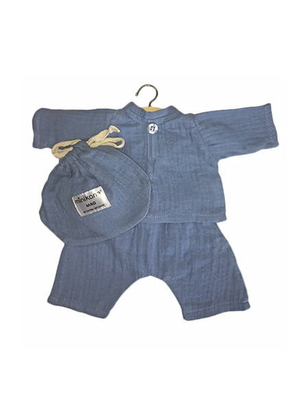 Minikane x Paola Reina 34cm Doll Cotton PJ's in Arctic Blue