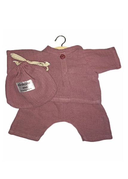 Minikane x Paola Reina 34cm Doll Cotton PJ's in Rose