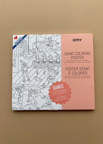 OMY Giant Colouring Poster Dance