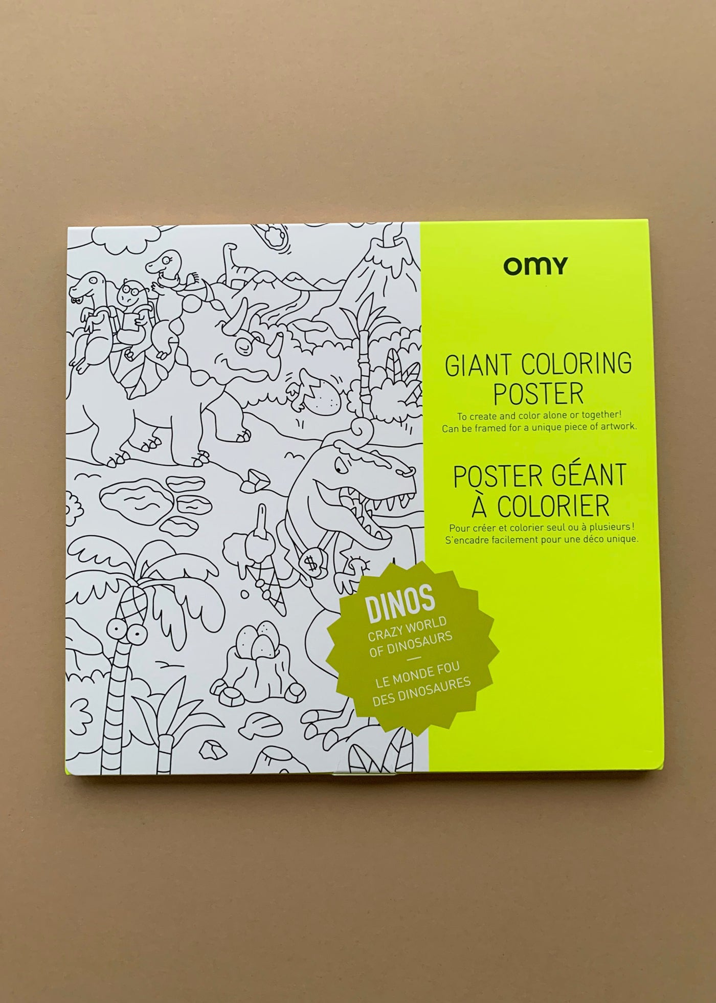 OMY Giant Colouring Poster Dinos