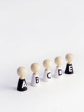 Rock & Pebble Alphabet Wooden Pebble Set