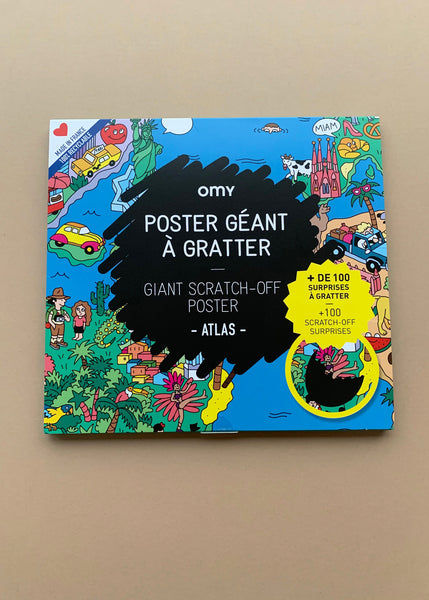 OMY Giant Scratch Off Poster Atlas