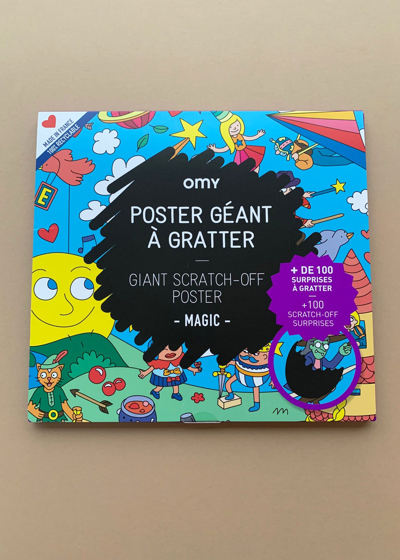 OMY Giant Scratch Off Poster Magic