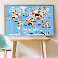 Poppik Discovery Sticker Poster: Animals of the World | Poster + 76 Stickers