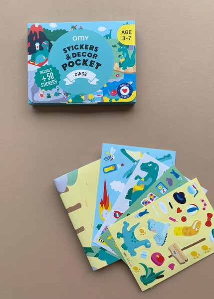 OMY Pocket Stickers & Decor Dinosaurs