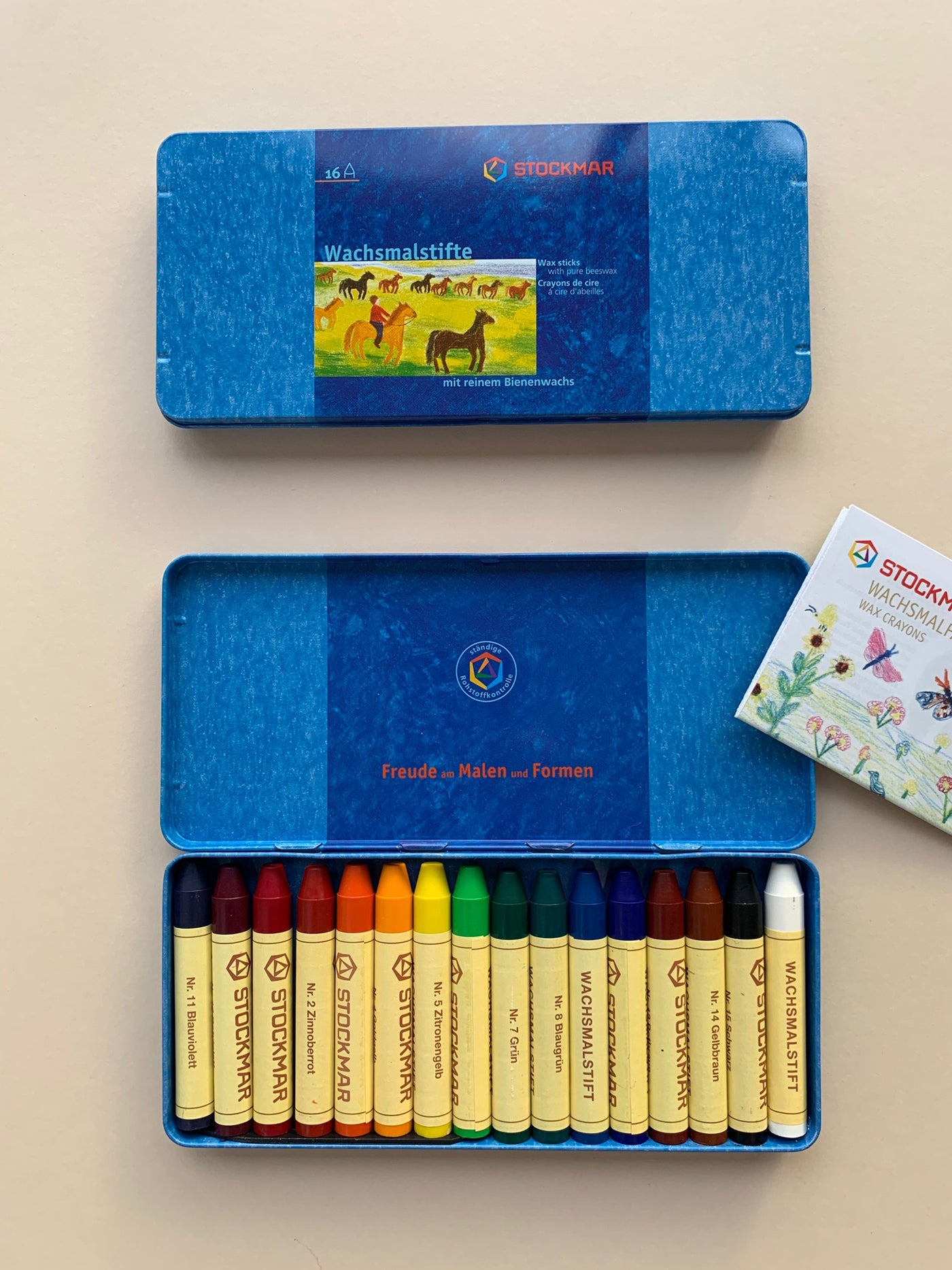 Stockmar Tin of 16 Beeswax Crayons