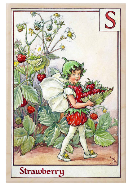 The Wooden Postcard Strawberry Fairy Card