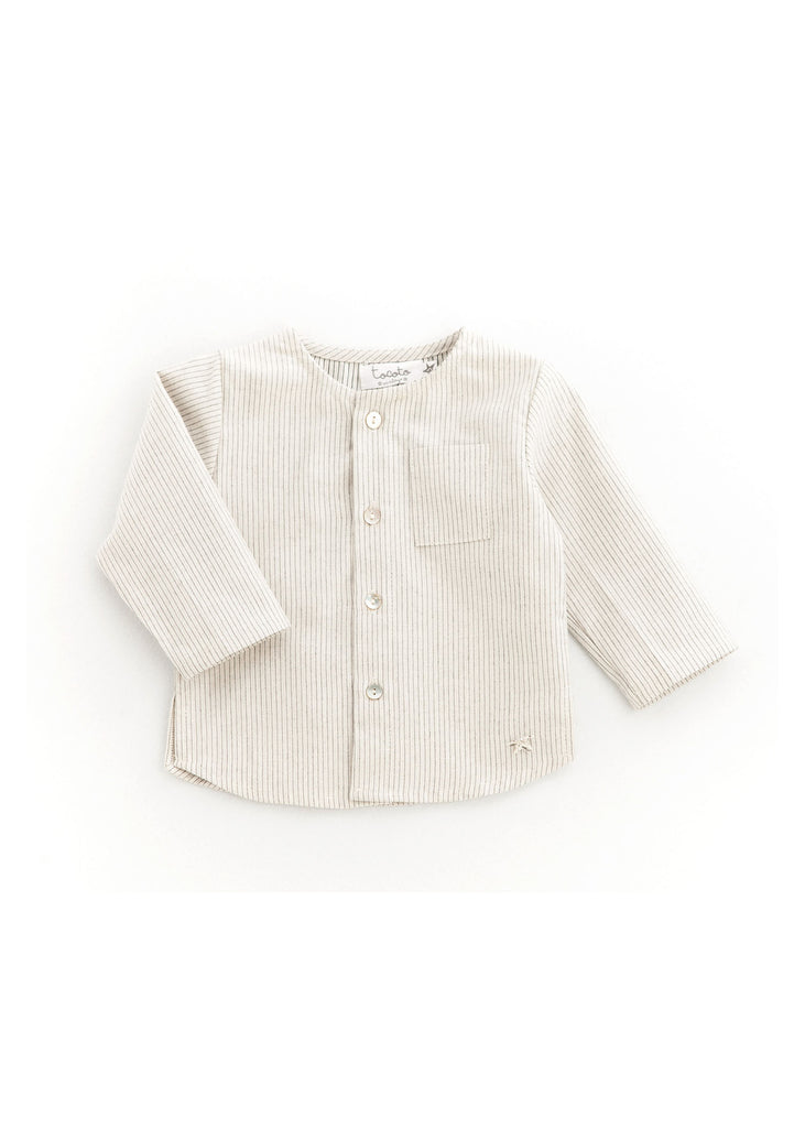 Tocoto Vintage Striped Cotton Shirt (0M to 6Y)
