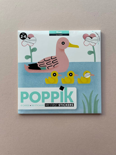 Poppik My First Stickers: River | 6 Cards + 96 Stickers