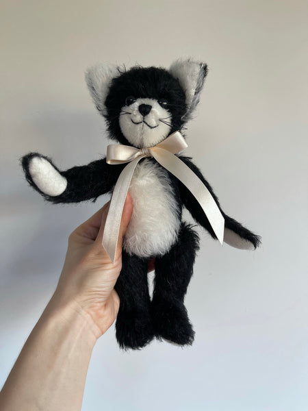 Merrythought Handmade Mohair Coco Cat 9""