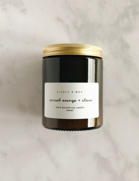Cicely & May | Spiced Orange & Clove Soy Wax Candle