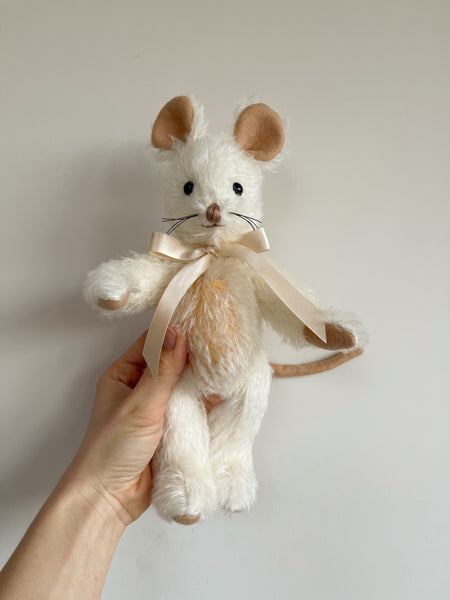 Merrythought Handmade Mohair Mabel Mouse 9""