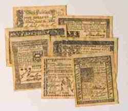 Colonial Era Replica Currency Set A