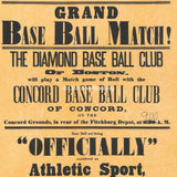 Grand Baseball Match - July 4th, 1879