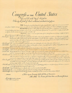 "Original Bill of Rights Replica -  14"" x 16"" Parchment Poster"