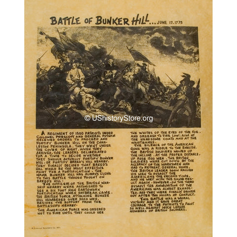 account of the battle of bunker hill Start studying bunker hill learn vocabulary what happened at the battle of bunker hill create a free account to save it.