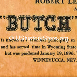 Butch Cassidy $4,000 Reward Wanted Poster 1900